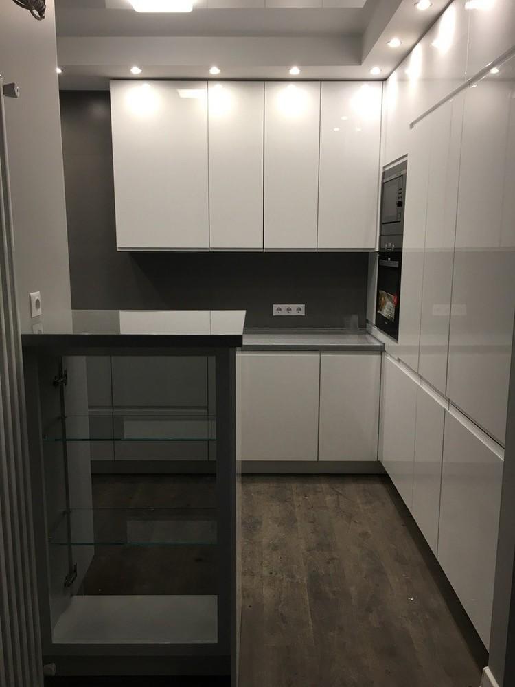 Акриловые кухни-Кухня МДФ в эмали «Модель 85»-фото1