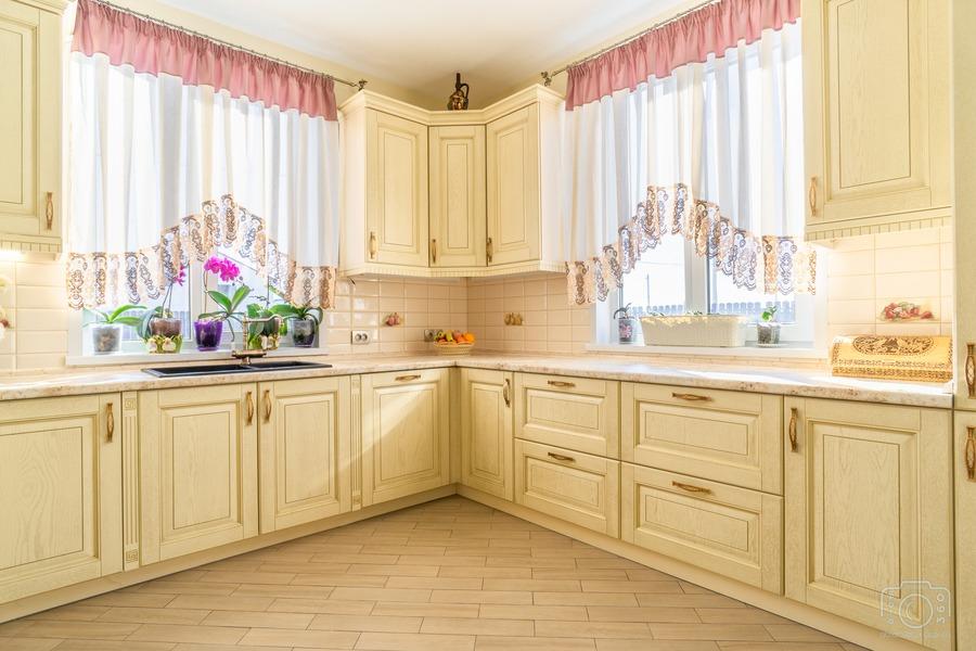 Белый кухонный гарнитур-Кухня из шпона «Модель 3»-фото4