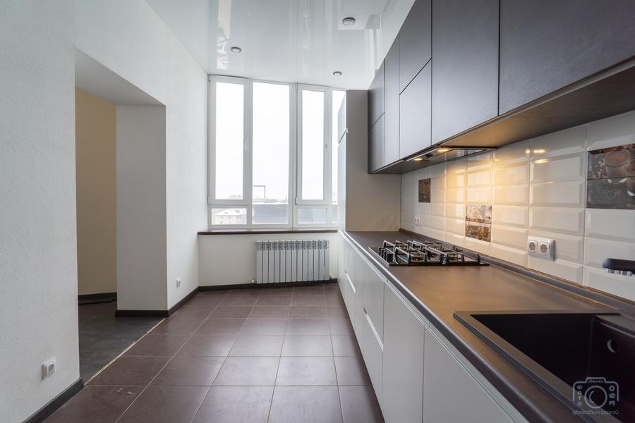 Белый кухонный гарнитур-Кухня МДФ в эмали «Модель 6»-фото2