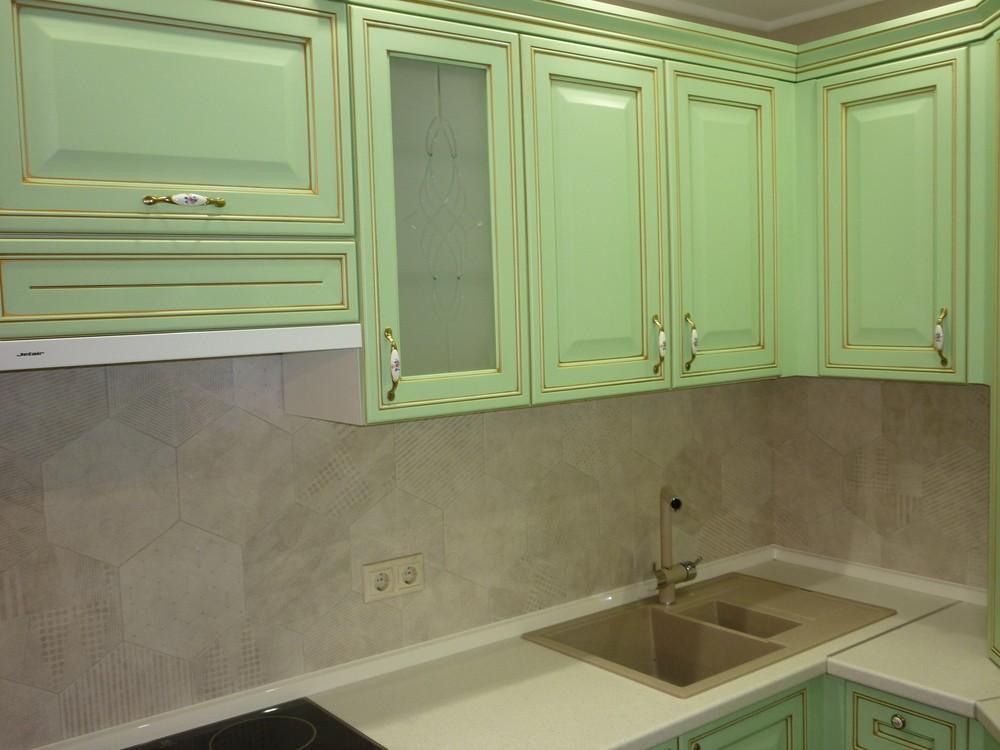 Встроенная кухня-Кухня МДФ в ПВХ «Модель 326»-фото3