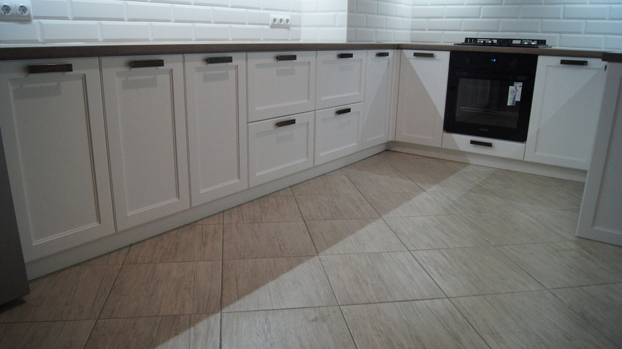 Белый кухонный гарнитур-Кухня МДФ в эмали «Модель 202»-фото6
