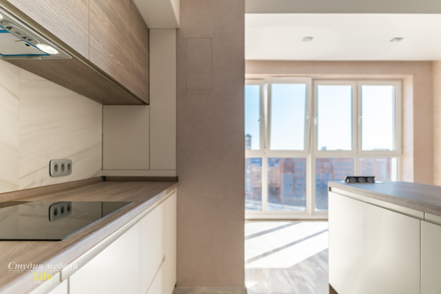 Белый кухонный гарнитур-Кухня из ЛДСП «Модель 424»-фото4