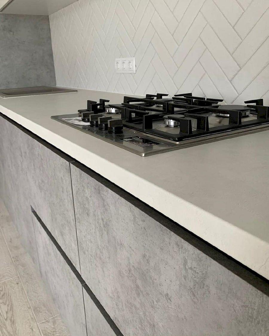 Белый кухонный гарнитур-Кухня МДФ в ПВХ «Модель 644»-фото4