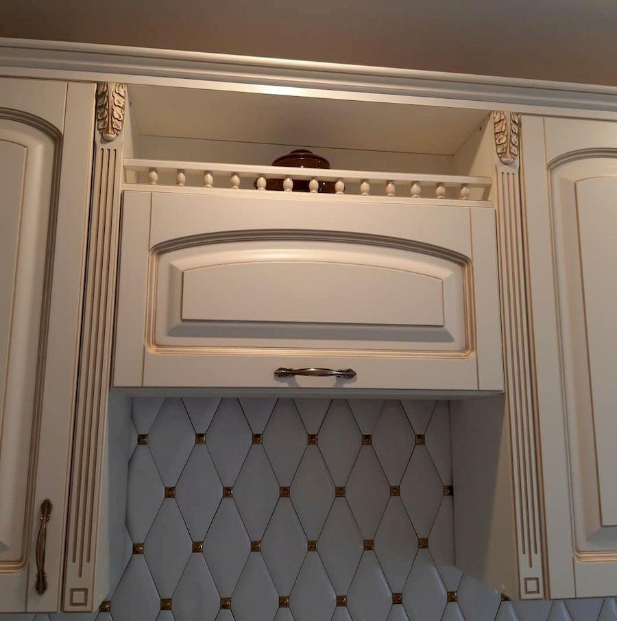 Белый кухонный гарнитур-Кухня МДФ в эмали «Модель 656»-фото5