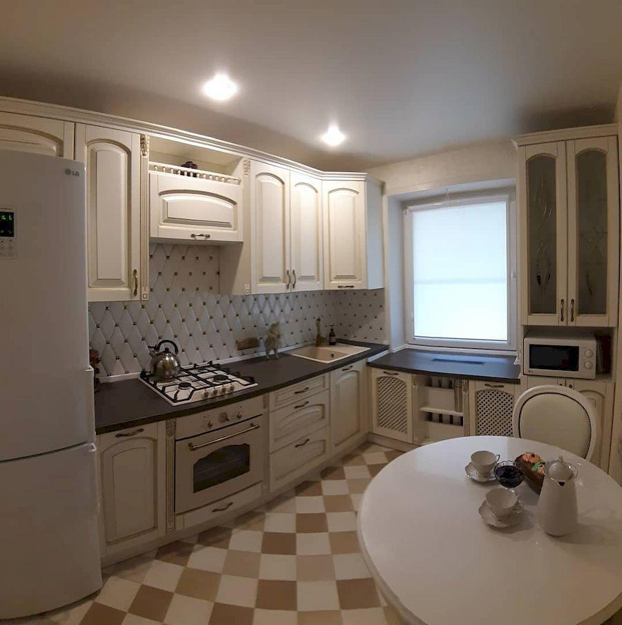 Белый кухонный гарнитур-Кухня МДФ в эмали «Модель 656»-фото1