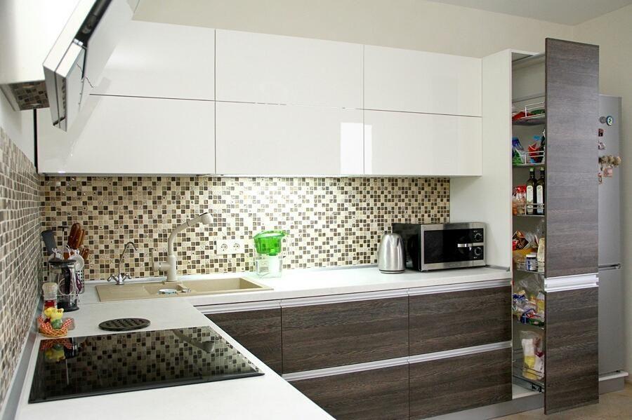 Белый кухонный гарнитур-Кухня из ЛДСП «Модель 655»-фото2