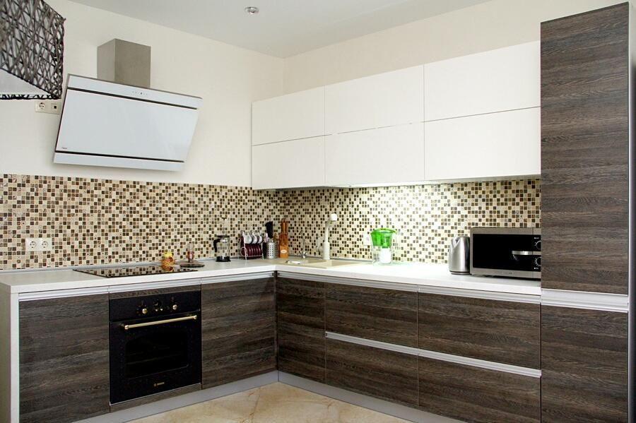 Белый кухонный гарнитур-Кухня из ЛДСП «Модель 655»-фото1