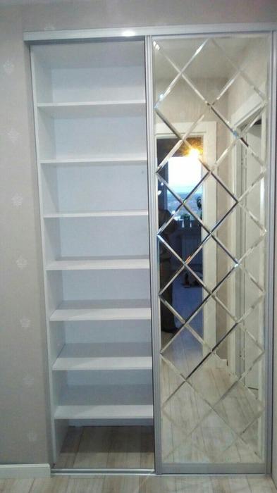 Встроенные шкафы-купе-Шкаф-купе с зеркалом «Модель 32»-фото4