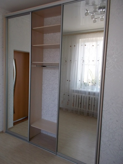 Большой шкаф-купе-Шкаф-купе с зеркалом «Модель 100»-фото3