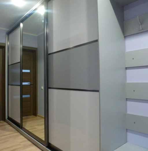 Бельевой шкаф-купе-Шкаф-купе с зеркалом «Модель 274»-фото3