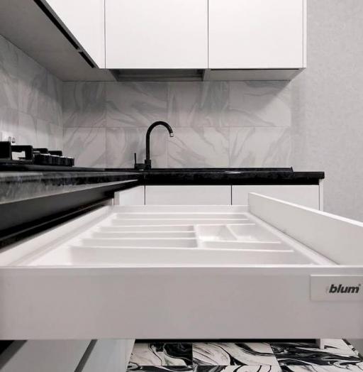 Белый кухонный гарнитур-Кухня МДФ в ПВХ «Модель 639»-фото8