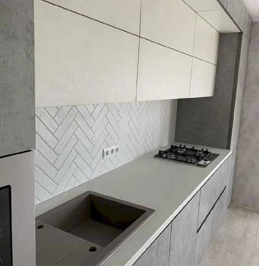 Белый кухонный гарнитур-Кухня МДФ в ПВХ «Модель 644»-фото5