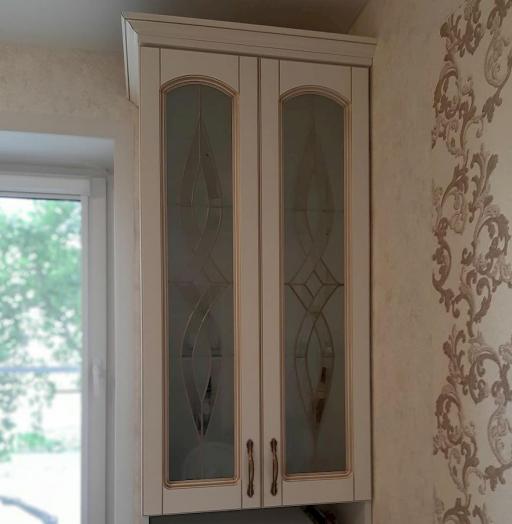 Белый кухонный гарнитур-Кухня МДФ в эмали «Модель 656»-фото6